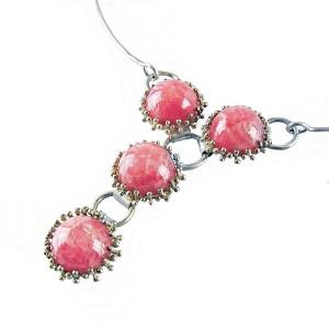 925 sterling zilveren silver rhodochrosiet rhodochrosite 1970s jaren 70er necklace collier ketting modernist designer 11.JPG
