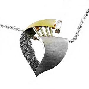 Frans Scheurle nu Quinn Germany Duitsland 925 sterling silver zilveren modernist modernistische designer hanger ketting pendant necklace vintage 7.JPG