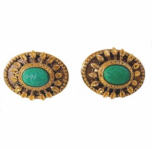 Zoe Coste vintage designer clip earrings oorbellen France Frankrijk costume jewelry large grote 5.jpg