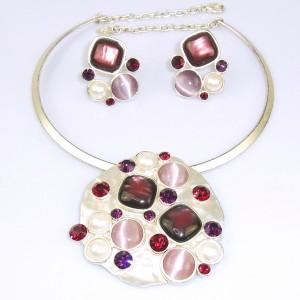 Dolce Vita Paris Parijs Frankrijk France French vintage modernist designer necklace earrings pendant set oorbellen collier spang hanger 1.JPG