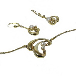 Teka Amerik Pforzeim Theodor Klotz Germany Duitsland vintage necklace set ketting oorbellen necklace earrings designer old 2.jpg