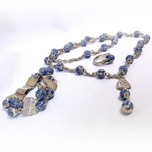 Chinese porcelijnen porcelyn beads kralen sterling 925 silver zilveren ring ketting armband set bracelet necklace collier vintage 1960s 60er jaren 2.jpg