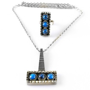 Jorgen Jensen Denmark Denemarken adjustable verstelbare ring ketting hanger collier pendant necklace designer vintage no 64 6.jpg