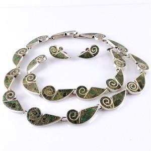 Mexico  sterling silver zilveren designer set bracelet necklace screw back earrings schroef oorbellen armband collier ketting vintage modernist modernitisch 8.jpg