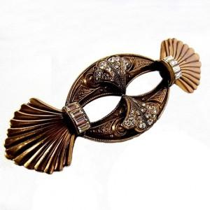 Ermani Bulatti big grote vintage designer brooch broche brass brons messing rhinestones strass costume jewelry Dutch design 3.jpg