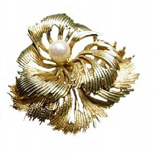 Andreas Daub Amerikaner Germany Duitsland gilded vergulde vintage designer brooch broche 5a.jpg