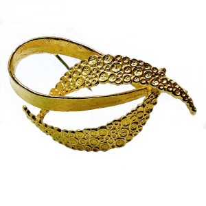Hobe America Amerikaans vintage goldtone metal golplated goudkleurige broche broche designer modernist costume 1960s 3.jpg