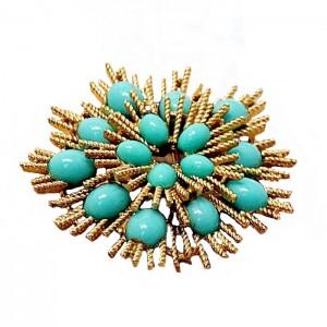 Avon America amerikaanse vintage broche brooch designer costume faux turquoise turkois  rge grote 2.jpg