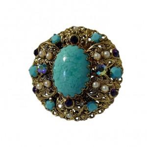 Westen West Germany vintage designer brooche pendant broche hanger 1950s 50er jaren costume jewelry 9a.jpg