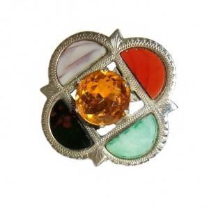 Ward Brothers Glasgow 1951 Scotland SCHOTLAND schotse sterling silver zilveren agaten broche brooch met citrienkleurige steen citrin modernist designer vintage 5a.jpg