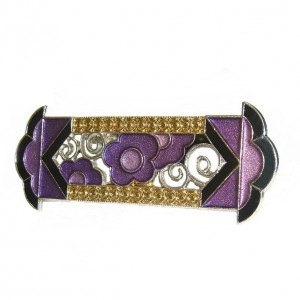 Pierre Bex style stijl French frans designer broche brooch vintage art  deco nouveau enamel lilac black lila zwart 4.jpg