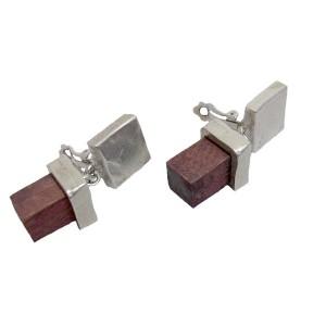 Biche de Bere French Franse designer modernist modernistische vintage clip oorbellen earrings 5a.jpg