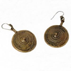 Jorma Laine vintage Bronze dangle earrings sterling silver hooks Turun Hopea Finland Modernist 1960s 1970s 60er 70er Scandinavian 5.jpg