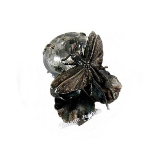 Ermani Bulatti Dutch Nederlands designer design clip earrings oorbellen vintage dragonfly libelle crystal 3.jpg