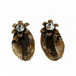 Ermani Bulatti vintage Dutch design designer clip earrings oorbellen Nederlands brass metal 5.jpg
