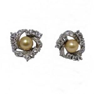 925  sterling zilveren silver oorstekers oorbellen vintage met parel earrings with pearlsparkling vintage designer 4a.jpg