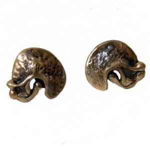 Harrie Lenferink Dutch Nederlands bronze bronzen clip oorbellen earrings modernist brutalist vintage designer 4a.jpg