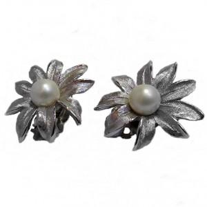 Judy Lee America Amerikaanse vintage designer clip oorbellen earrings silver coloured pearl parel costume jewelry 4 (1) a.jpg