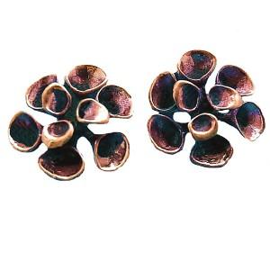Hannu Ikonen Finland bronze bronzen ronde oorbellen earrings clip reindeer moss rendier mos vintage modernist scandinavian 2b.jpg