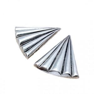 Large grote modernistische modernist clip oorbellen earrings 925 sterling zilver silver VD and makersname in script designer vintage 7.jpg