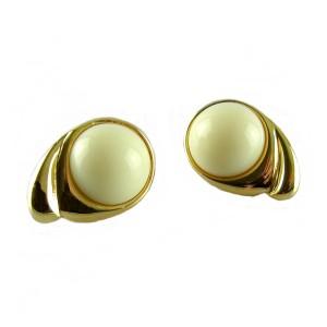 Monet designer earrings oorstekers vintage modernist costume gold tone goudkleurig metal metalen 5.JPG