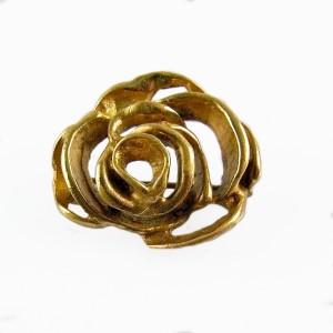 Finland bronze bronzen stylized gestyleerde rose brooch broche roos rozen vintage modernist designer 2.JPG