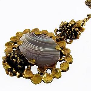 Pentti Sarpaneva Finland bronze bronzen agate agaten agaat pendant necklace hanger ketting collier vintage designer modernist scandinavian 6.JPG