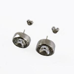 Sterling silver zilveren 925 earrings stud pearced oorstekers oorbellen rock crystal berg kristal vintage modernist designer KLS 5.JPG