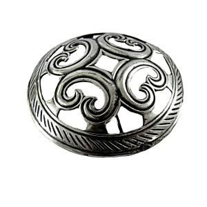 Kalevala Koru Oy Finland Finse broche brooch vintage designer modernist traditional silver plated Scandinavian viking 4.JPG