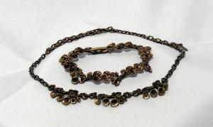 Hannu Ikonen Finland Modernist bekertjesmos Reindeermoss Bronze Bronzen Brons necklace collier bracelet armband Vintage sixties seventies 1.JPG
