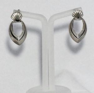 Vintage 925 silver sterling doorknocker earrings pierced gaatjes oorbellen zilveren a.JPG
