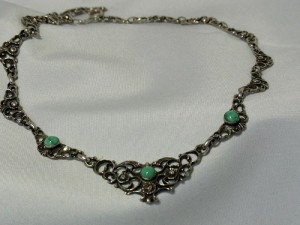 Old oude antieke antique silver zilveren 835 collier necklace ketting turqoise vintage trachten schmuck d.JPG