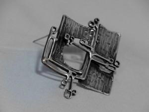 Teka Theodor Klotz Pforzheim Germany Duitsland designer vintage modernist 925 silver zilveren sterling brooch broche mid century 60er jaren sixties 1960s 60s 1.JPG