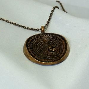 Jorma Laine Finland Finnish Scandinavian vintage modernist necklace pendant Fins  hanger collier ketting e.JPG