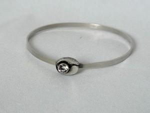 Karl Laine Finnfeelings Finland Modernist Vintage 925 silver zilveren klemarmband armband bracelet met bergkristal b.JPG
