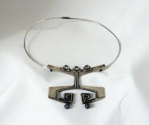 Relo Austrian Oostenrijk 925 silver zilveren collier spang necklace pendant hanger Modernist Vintage Mid Century e.JPG