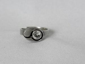 Karl Laine Finnfeelings Finland Modernist Vintage 925 silver zilveren adjustable verstelbare ring met bergkristal a.JPG