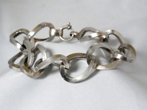Andreas Daub 835 silver zilveren bracelet armband Germany Duitsland Pforzheim vintage modernist mid century  designer machine age 1.JPG