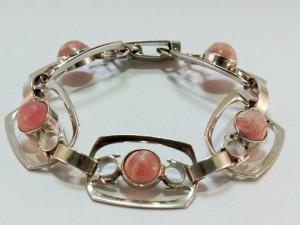 modernist vintage sterling silver seventies rhodochrosite 70er jaren rhodochrosiet bracelet armband 4.JPG