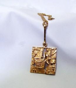 Jorma Laine Finland Finnish pendant necklace hanger ketting collier bronze brons designer Mid Century Modernist Scandinavian Abstract Modern 4.JPG