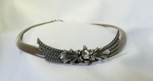 Vintage Ermani Bulatti Dutch Nederlands collier necklace silver tone metal zilverkleurig metaal 1980s Designer Costume Jewelry a.JPG
