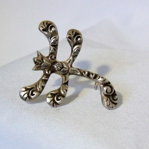 PE 835 zilveren silver brooch broche Jugendstil Perli Duitsland Germany designer old antique antieke b.JPG