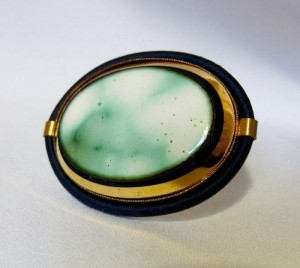 Langani Germany Vintage oval ovale brooch broche costume jewelry designer 5.JPG