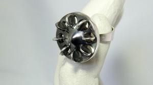 Erik Granit Finland fully hallmarked modernist 916 H silver zilveren ring P7 1968 Finnish Vintage Modernist Designer Scandinavian 8.JPG
