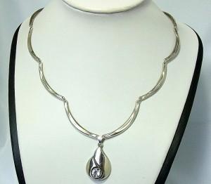 Finnfeelings 925 silver zilveren sterling collier necklace ketting hanger pendant Finland Finse Finnish Modernist designer Vintage Scandinavian 6.JPG