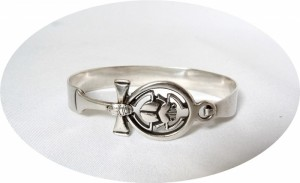 Egyptian silver scarab bracelet Egyptisch zilveren scarabee armband 60er 70er jaren sixties seventies vintage old oud designer modernist abstract 4.JPG