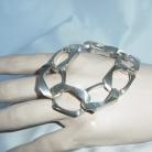 Massieve vintage 835 zilveren open schakelarmband (unisex).