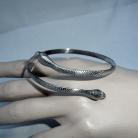 Vintage 925 zilveren slangen armband.