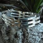 Nol Coopmans zware modernistische 835 zilveren armband uit 1975.