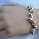 Nederlands 835 zilveren vintage modernistische druppelvormige bollen armband.